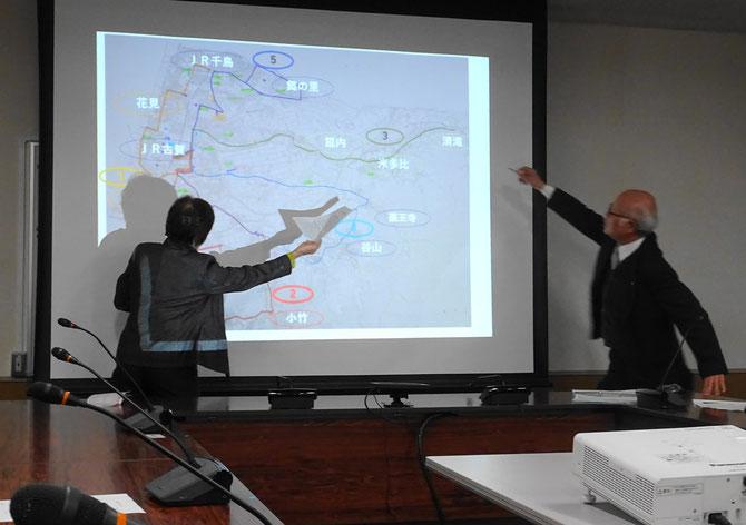 私たちが提案したバス路線図をめぐって建設的な議論