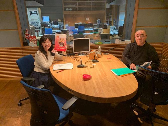 CBCラジオ「ラジ和尚 長谷雄 蓮華の チョットかけこみませんか」2月17日の収録の様子