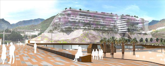 Proyecto Dominique Perrault, Playa Las Teresitas, Tenerife