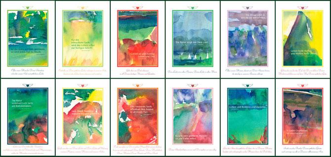 Kunstkalender mit Weisheitstexten von Hazrat Inayat Khan