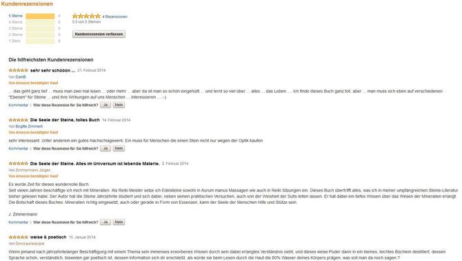 Die Seele der Steine - Amazon Kundenbewertung