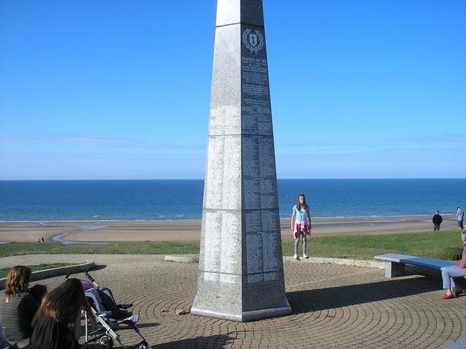 Stèle sur la commune de Colleville-su-Mer  Omaha-Beach