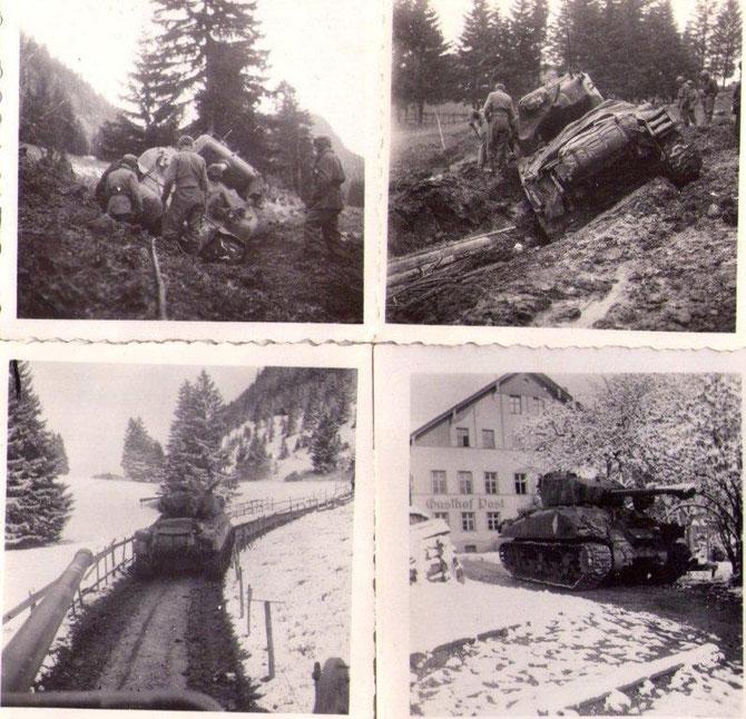"""Jean est devenu tireur sur un nouveau Char """"Le Trézel"""" qui s'est embourbé a l'approche du Tyrol, l'équipage s'activent  pour le sortir de cette mauvaise passe. Après cette incident direction Rettenberg (Autriche)"""