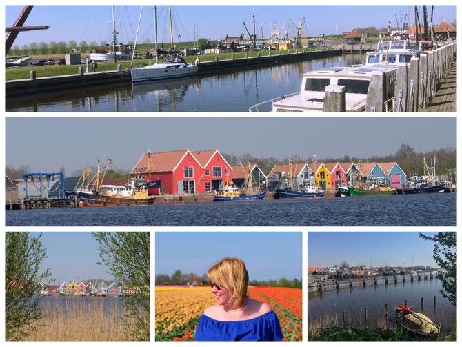 Eindrücke des malerischen Küstenortes nahe dem Nationalpark Lauwersmeer
