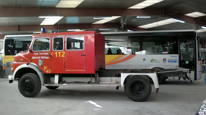 Arrivée chez le carrossier en janvier 2013
