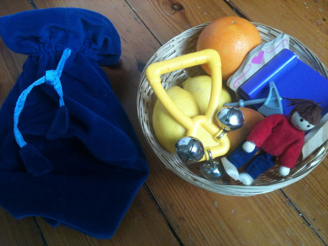 oranges and Lemons feely bag