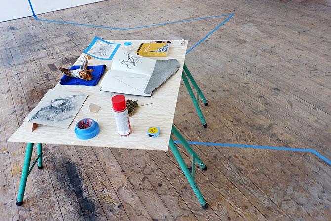Installation view, Workbench 2017, Nordisk Kunstnarsenter, Dale I Sunnfjord (NO)