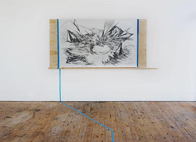 Installation view, Paesaggio Interrotto 2017, Nordisk Kunstnarsenter, Dale I Sunnfjord (NO)