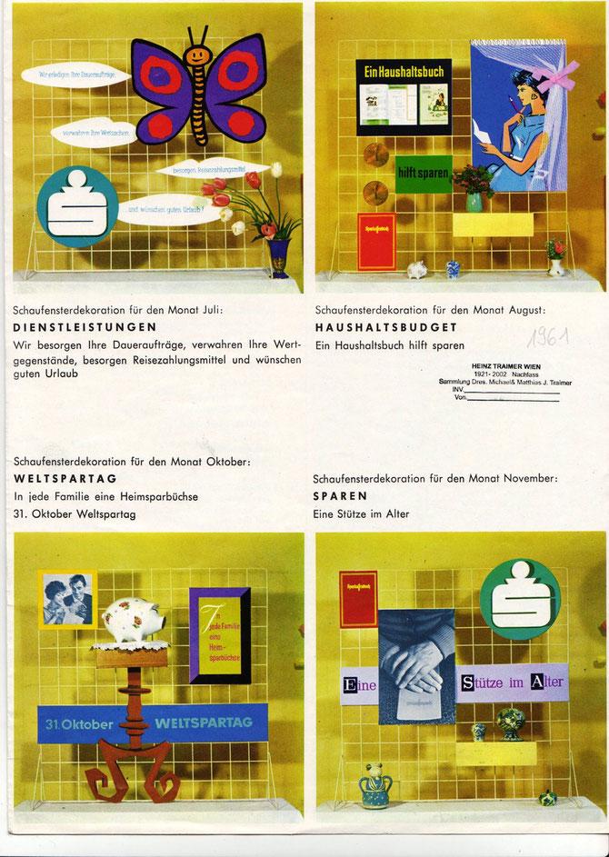 Schaufenster-Gestaltung (Sparkasse 1961)
