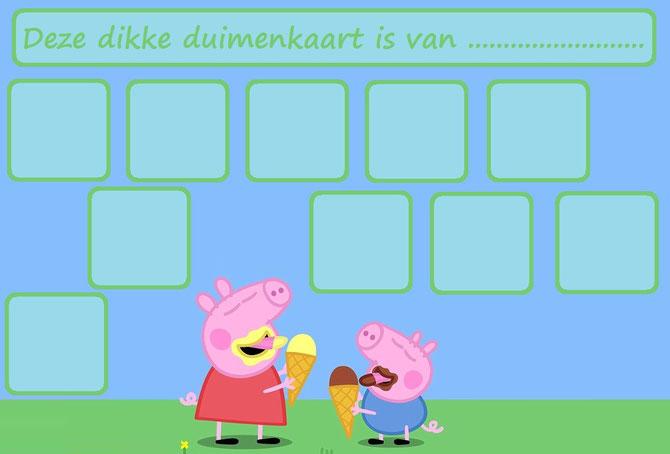 Peppa Pig Website Of Dikkeduimenkaarten