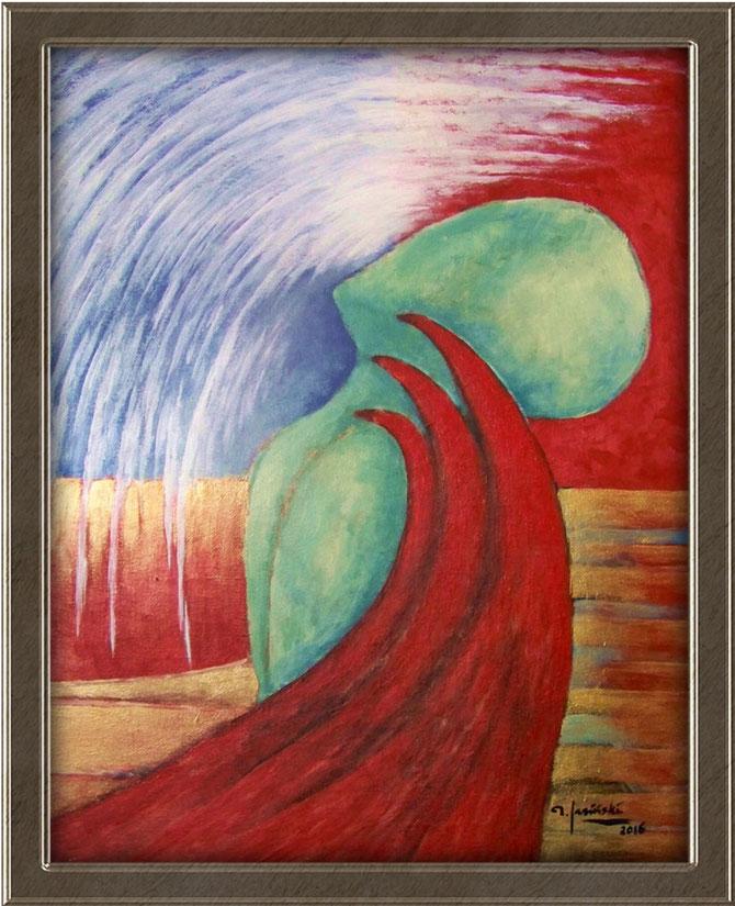 akryl   III/16   la folie. la mort. la vie... / rozm.50x40   cena: 600 pln