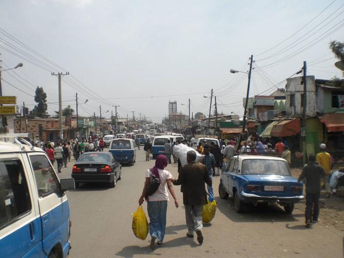 Addis Abeba, Äthiopien, Afrika, Markt