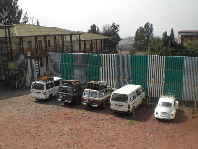 Itegue Taitu Hotel, Addis Abeba, Äthiopien, Afrika, Geländewagen, Tour