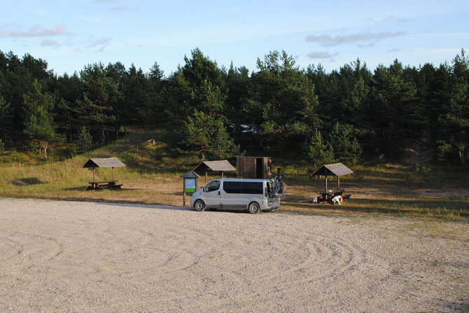 Estland, Wild Camping, Opel Vivaro