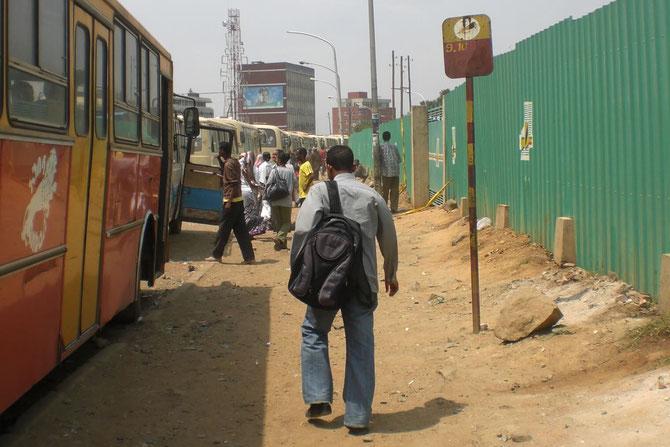 Addis Abeba, Äthiopien, Afrika, Staub