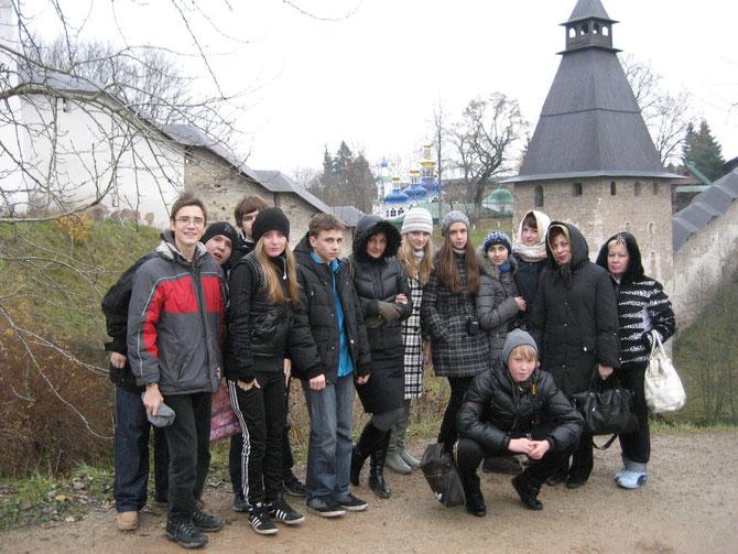 2010 год. 10-3 класс на экскурсии в Псково- Печерском монастыре.