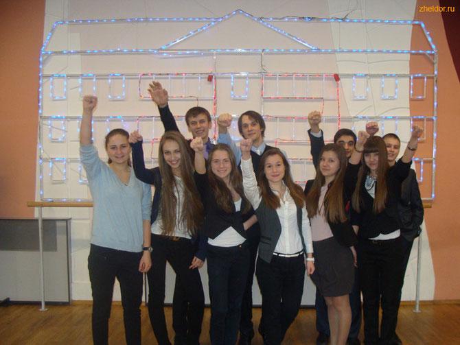 Ученики 9-3 класса в составе лицейской команды на Фестивале.
