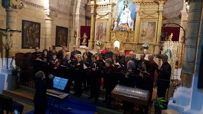 CONCIERTO DE NAVIDAD Ermita de San Esteban ( Avila) 26 de Diciembre de 2019 , Directora Mª Carmen Sanchez.