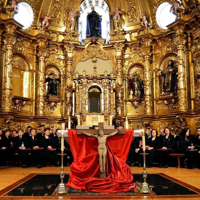SERMÓN DE LAS SIETE PALABRAS , DÍA 14 DE ABRIL DE 2017 Iglesia de San Ignacio de Loyola ( Avila) Director, Santiago Ruiz