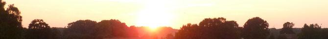 Bild: Panoramablick bei Sonnenuntergang Hannover / Mühlenberg