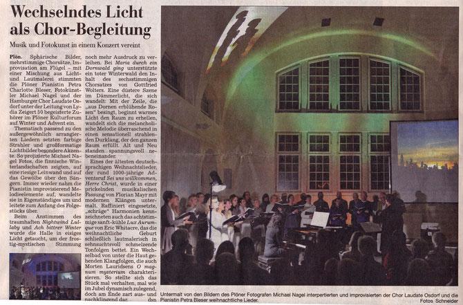 Pressetext Kieler Nachrichten vom 2.Dezember 2014