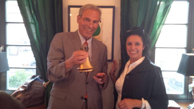 Übergabe der Präsidentschaft von Peter Baumann an Suzan Samir für das Lions-Jahr 2015/2016