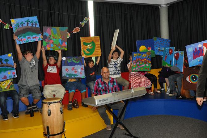 St. Leonhard-Schule vom 6. - 8. Juli 2011 mit anschließender Präsentation in der Villa Leon am 13. Juli 2011