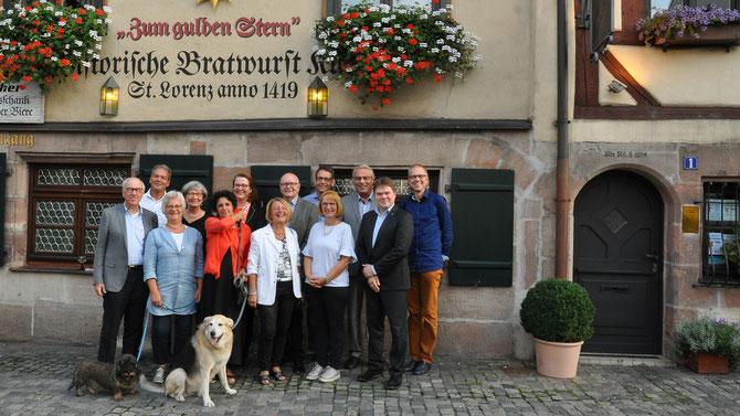 Feier 10 Jahre Lionsclub Nürnberg Lug-ins-Land am Gründungsort in der Historischen Bratwurst Küche