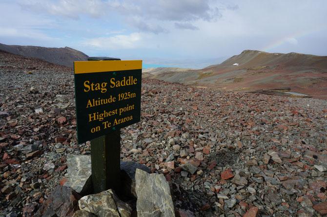 Blick vom Stag Saddle ins Tal - leider war die Sicht nicht besonders