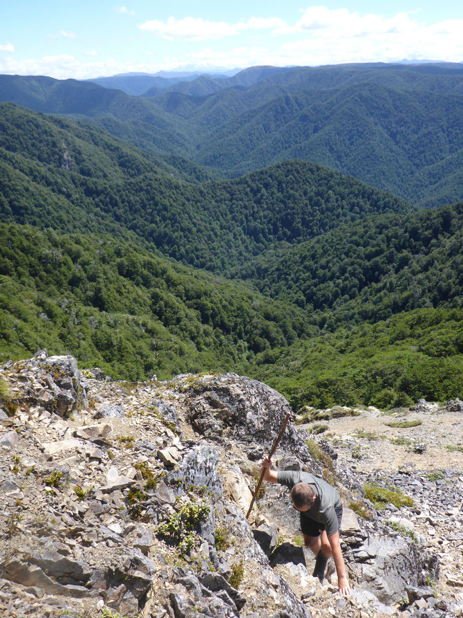 Aufstieg über den Gipfelkamm - Mount Ruapehu im Hintergrund