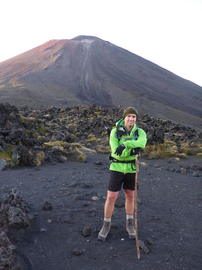 Lui vor dem Mount Ngauruhoe