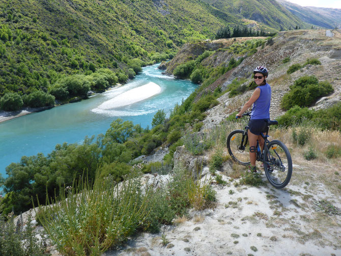 Mit dem Mountainbike im Gibbston Valley