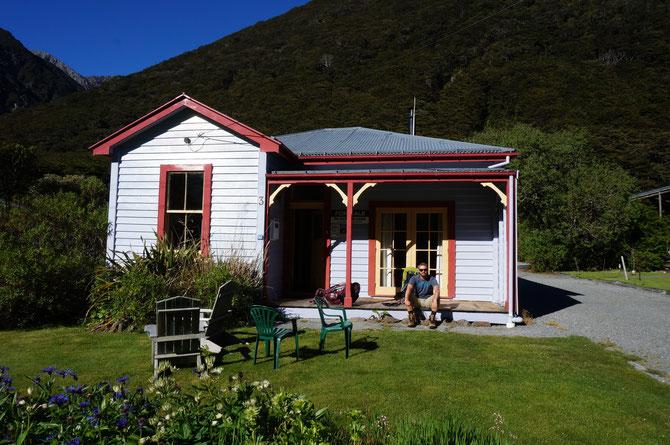 Unsere Unterkunft heute in Arthur's Pass