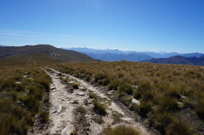 Weg zum Breast Hill