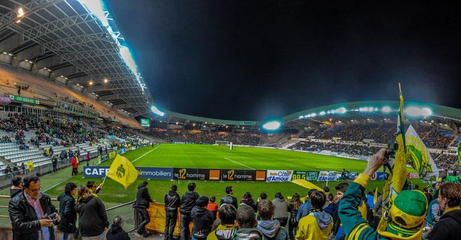 """Im Stimmungsblock """"Tribune Loire"""". FCN - Ajaccio 2:2(1:1)"""