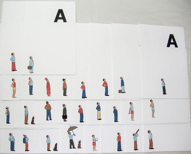 alcuni esempi di disegni originali per la lettera A