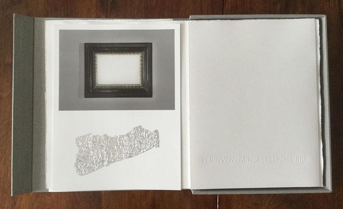 fotografia originale con intervento a collage e pagina tipografica stampata a secco
