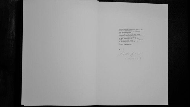 colophon composto e stampato tipograficamente a mano