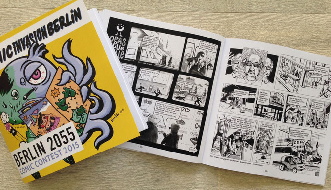 "The Comic ""Opas neue Brille"" in the contestbook of the comicinvasion"