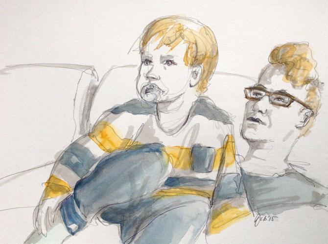 Skizze von meiner Familie © Dorothea Blankenhagen