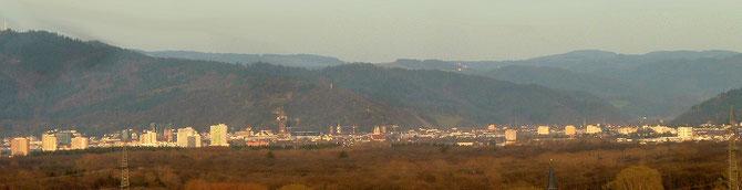 Aussicht auf Freiburg und den Schwarzwald