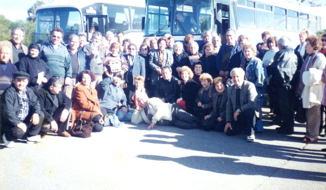 Members of the Association on an excursion 1996