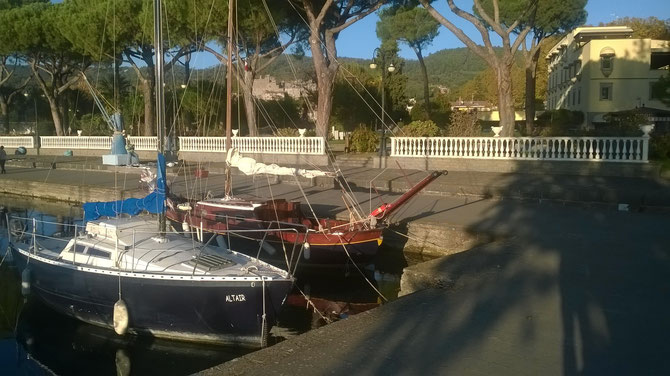 Barche al porto di Bolsena