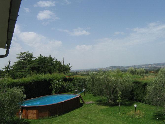 piscina vista da casa