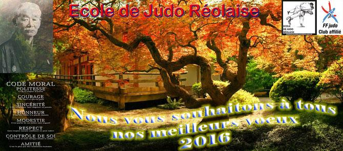 Ecole de judo Réolaise - Meilleurs voeux 2016