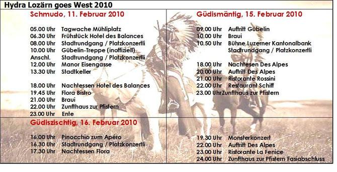 2010 Programm