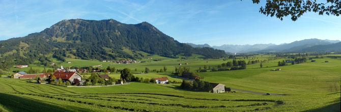 Blick vom Ortssrand von Rettenberg