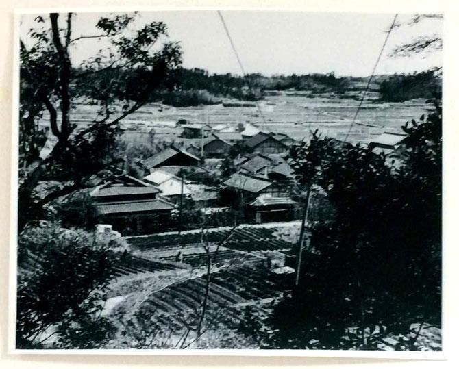 昭和30年頃、一社の農村風景