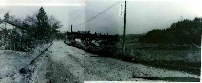 昭和37年頃、西一社旧道(区画整理が始まった頃の風景)