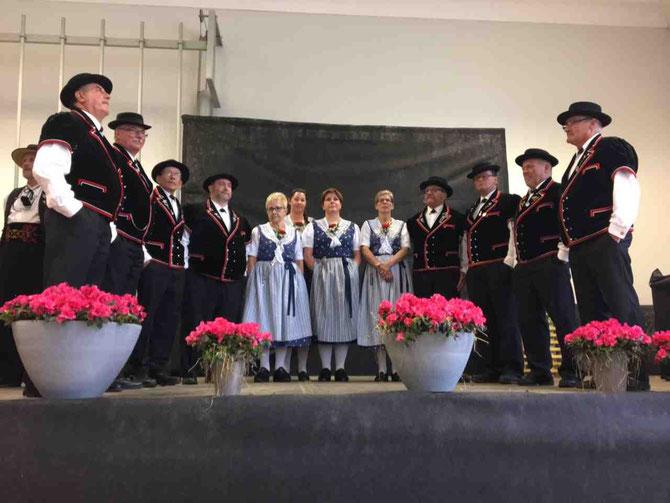 Jodlerklub Alphüttli am Eidgenössischen Jodlerfest 2017 in Brig